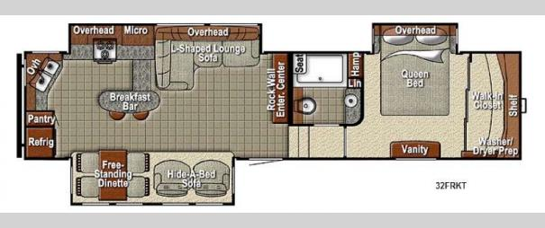 Sedona 32FRKT Advanced Profile Floorplan