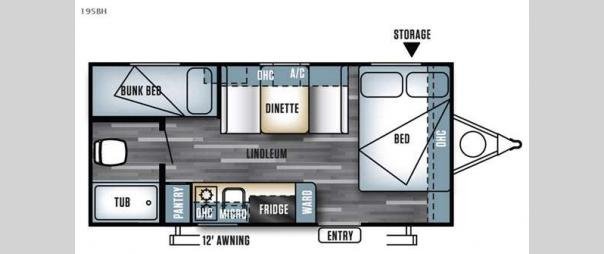Salem Cruise Lite FS 195BH Floorplan