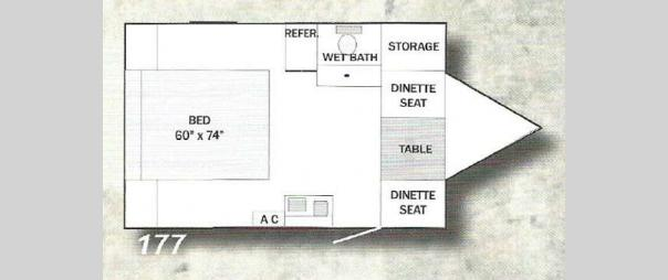 White Water 177 SE Floorplan