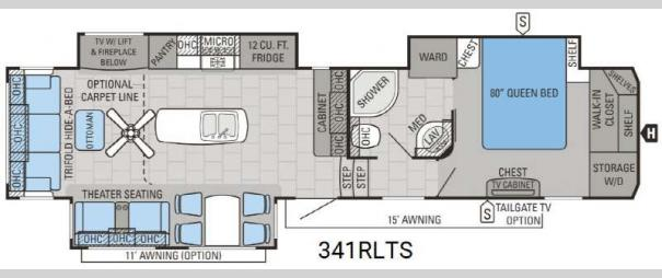 North Point 341RLTS Floorplan