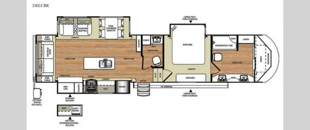 Wildwood Heritage Glen 386FBK Floorplan