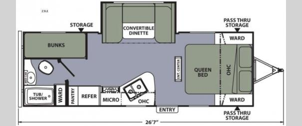 Apex Ultra-Lite 23LE Floorplan