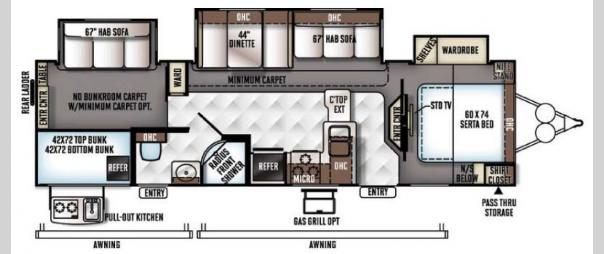 Rockwood Signature Ultra Lite 8311WS Floorplan