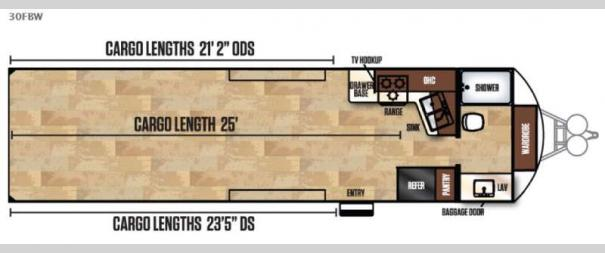 Work and Play FRP Series 30FBW Floorplan