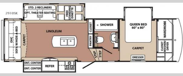 Blue Ridge 2910SK Floorplan