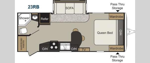 Passport Elite 23RB Floorplan