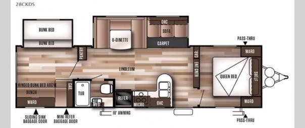 Wildwood 28CKDS Floorplan