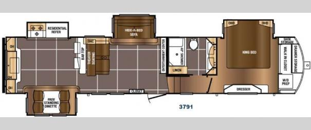 Sanibel 3791 Floorplan