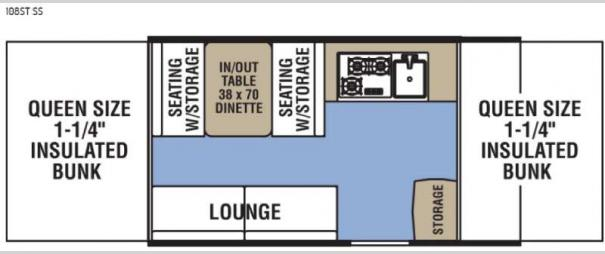 Clipper Camping Trailers 108ST SS Floorplan
