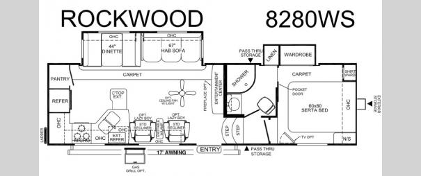 Rockwood Signature Ultra Lite 8280WS Floorplan