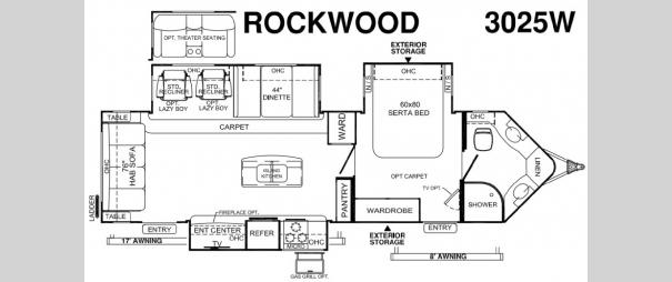 Rockwood Wind Jammer 3025W Floorplan