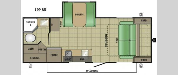 Launch Mini 19MBS Floorplan