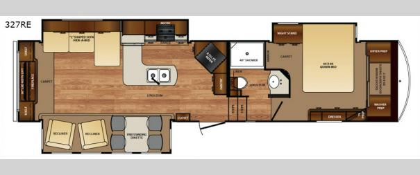 Wildcat 327RE Floorplan