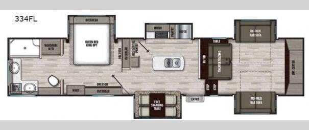 Chaparral 334FL Floorplan