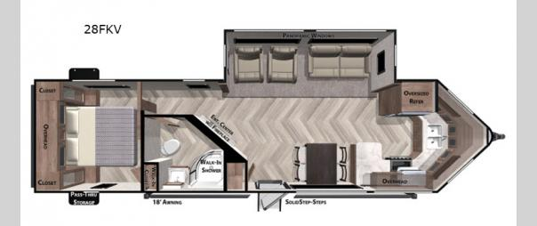 Wildwood 28FKV Floorplan
