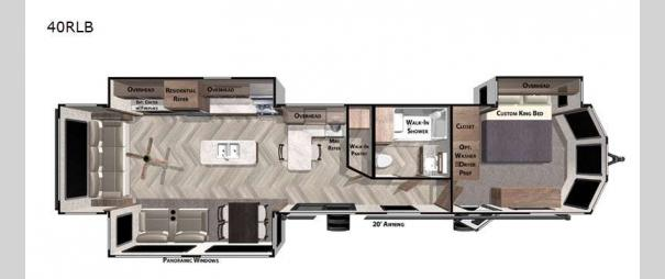 Wildwood Lodge 40RLB Floorplan