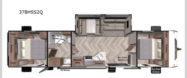 Wildwood 37BHSS2Q Floorplan