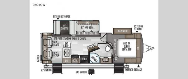 Rockwood Ultra Lite 2604SW Floorplan