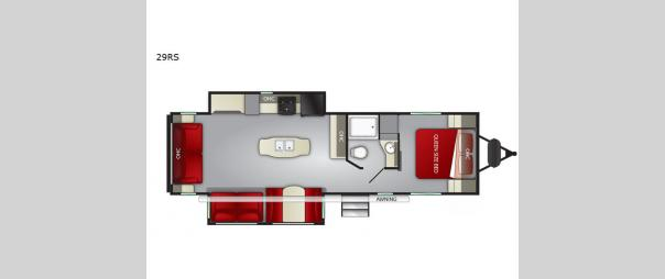 Fun Finder XTREME LITE 29RS Floorplan