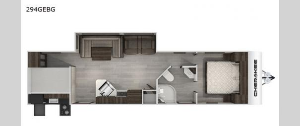 Cherokee Black Label 294GEBGBL Floorplan