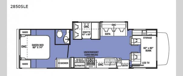 Sunseeker LE 2850SLE Ford Floorplan