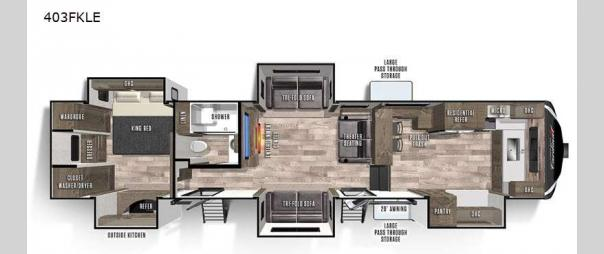 Cardinal Limited 403FKLE Floorplan