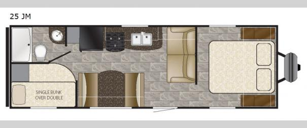 Trail Runner 25JM Floorplan