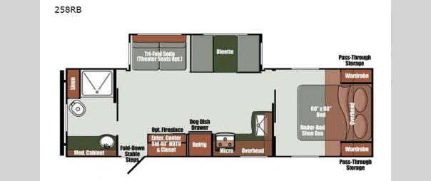 Kingsport Ranch 258RB Floorplan