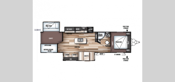 Wildwood 32BHI Floorplan