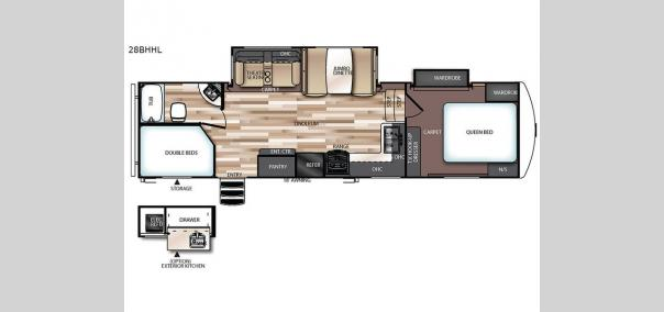 Wildwood Heritage Glen 28BHHL Floorplan