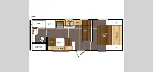 Avenger 22RB Floorplan