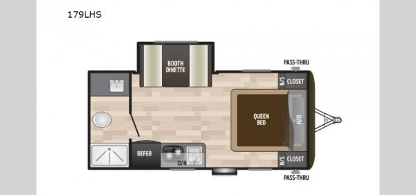 Hideout Single Axle 179LHS Floorplan