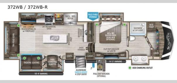 Solitude 372WB Floorplan
