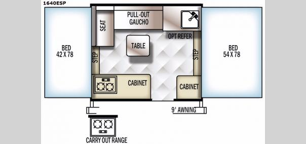 Rockwood Extreme Sports 1640ESP Floorplan