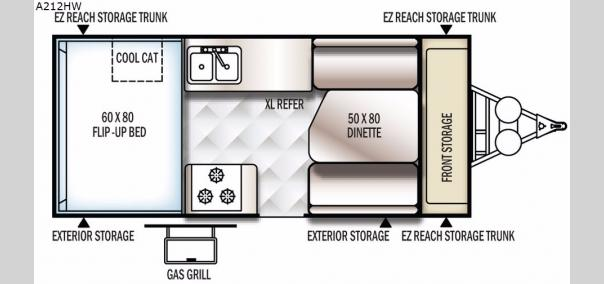 Rockwood Hard Side High Wall Seires A212HW Floorplan