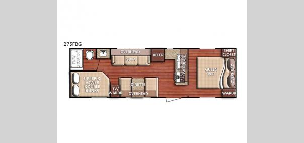 Kingsport SE 275FBG Floorplan