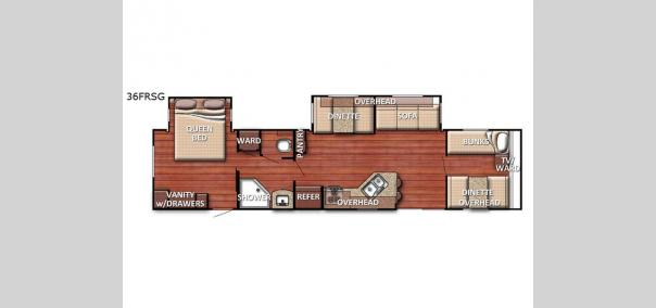 Kingsport 36 FRSG SE Series Floorplan