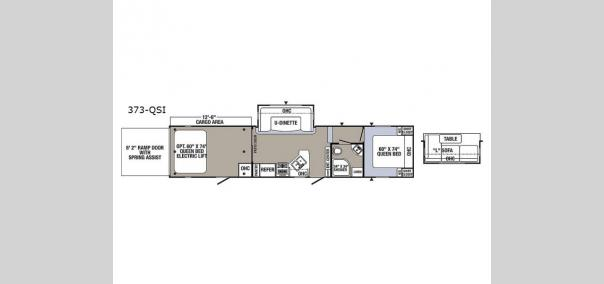 Puma Unleashed 373-QSI Floorplan