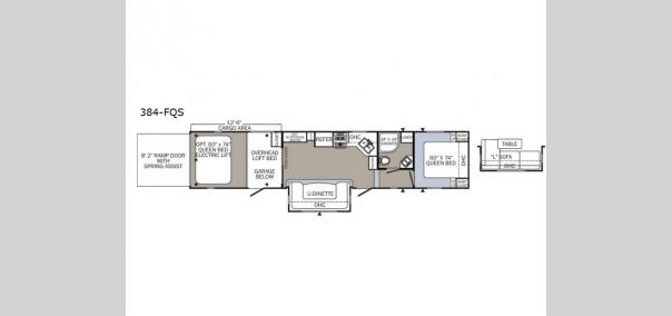 Puma Unleashed 384FQS Floorplan