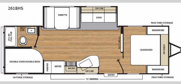 Catalina SBX 261BHS Floorplan