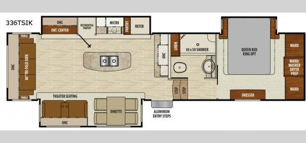 Chaparral 336TSIK Floorplan