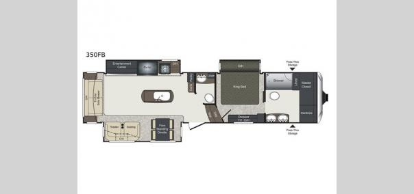 Laredo 350FB Floorplan