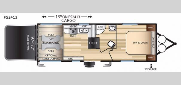 Stealth FS2413 Floorplan