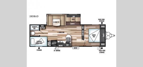 Wildwood 28DBUD Floorplan