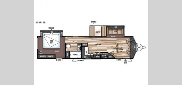 Wildwood DLX 353FLFB Floorplan
