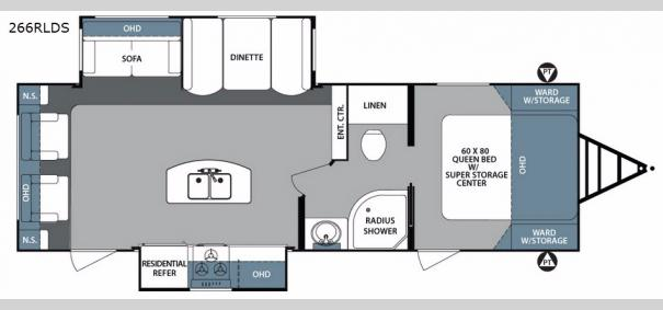 Surveyor 266RLDS Floorplan