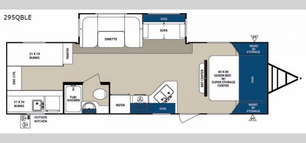Surveyor 295QBLE Floorplan