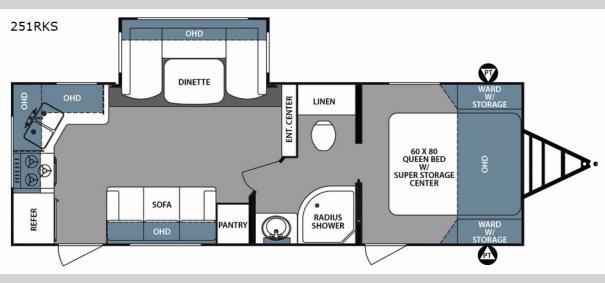 Surveyor 251RKS Floorplan