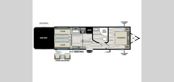 Salem Cruise Lite 251SSXL Floorplan