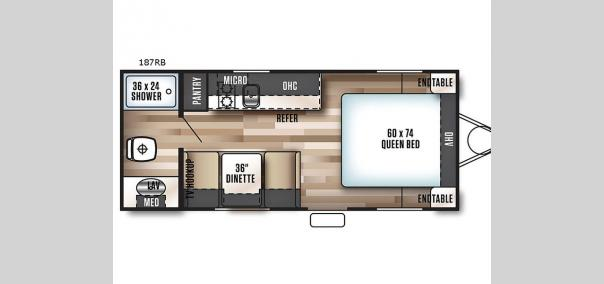 Wildwood X-Lite FSX 187RB Floorplan